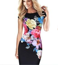 Summer 2017 Women Elegant Flower Floral Printed Ruched Cap Sleeve Ruffle Casual bridesmaid Mother of Bride Evening Party Dress