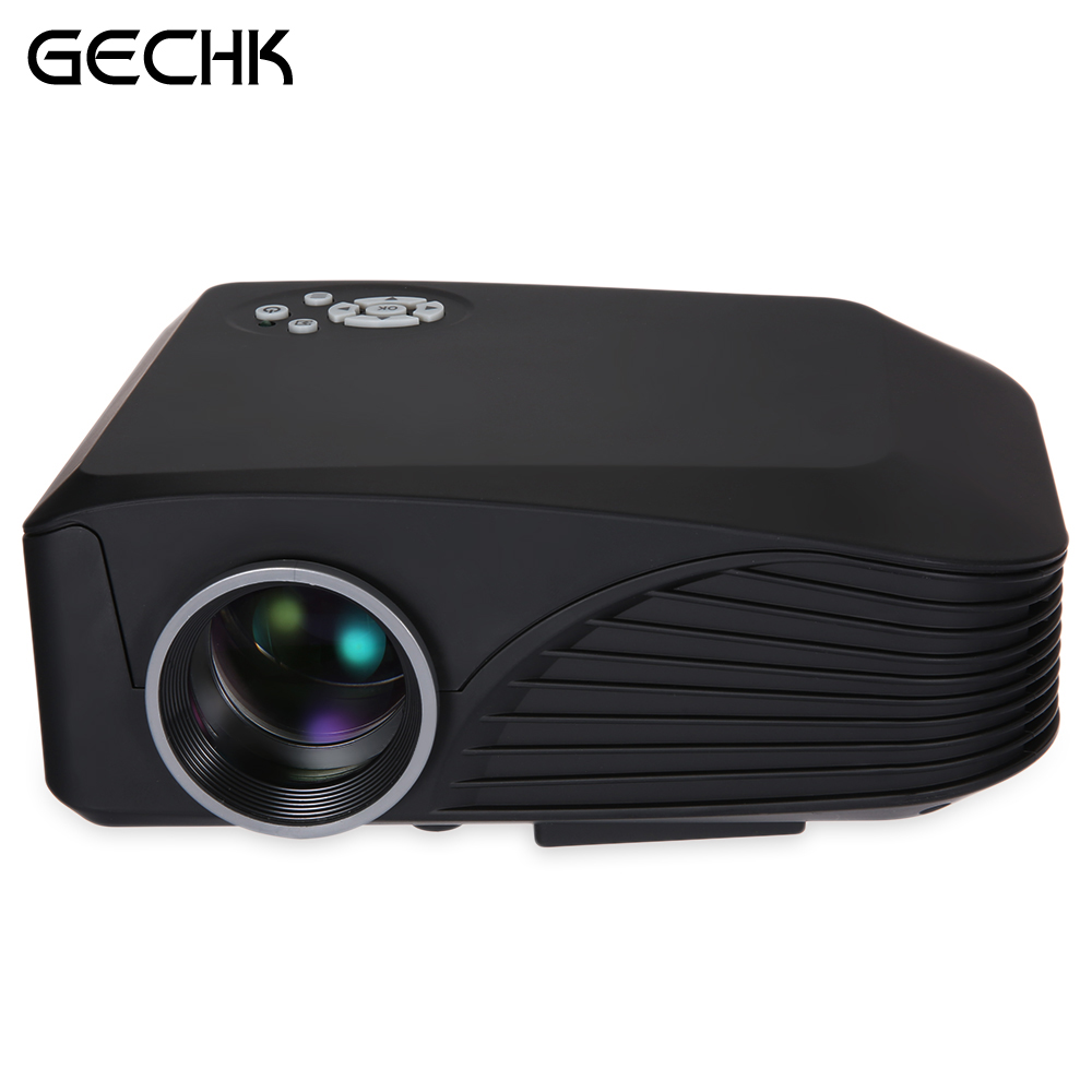 H88 High Resolution Full HD 3D Supported Multimedia LCD Projector Protale Projector With Remote Controller Black White