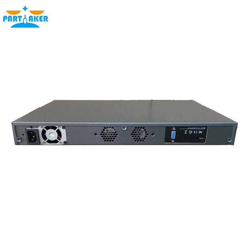 Hardware Firewall with Intel Z87 I5 4430 4 LAN 4 SPF Ports Mikrotik ROS PARTAKER R20 2G RAM 8G SSD