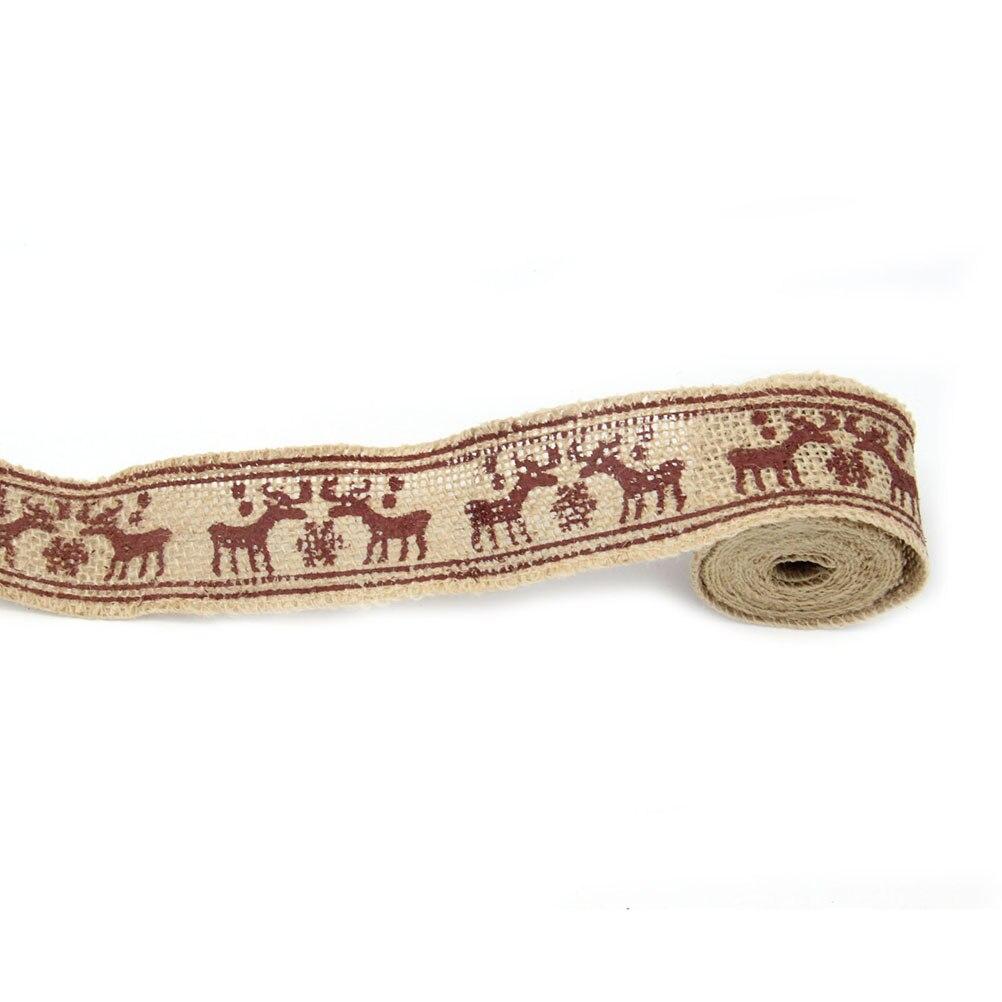 2 m 4 cm estilo alces arpillera cinta del arte de diy artesanías casa decoración