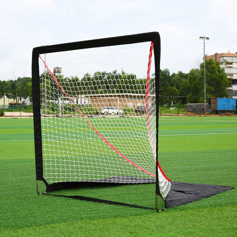Outdoor Portable Hockey Goal Net Hockey Rink Field Exercise Equipment Steel Practice Goal Net Shipped From USA hockey net travel portable lacrosse pop up lax net for backyard shooting collapsible outdoor sport training foldable hockey goal