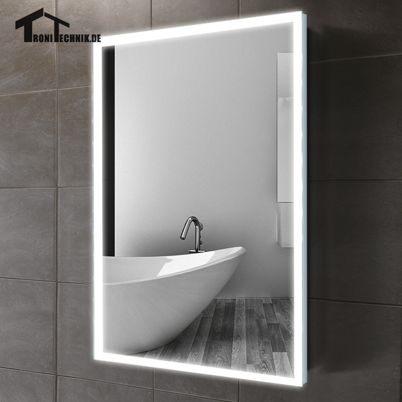 Uk shipping 60x80cm illuminated bath mirror in bathroom for Mirror 60 x 80