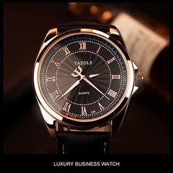 2019 YAZOLE Negócios Men Watch Top Marca De Luxo Relógios Homens Relógio Clássico Da Moda De Quartzo-Relógio de Pulso Masculino Reloj Hombre