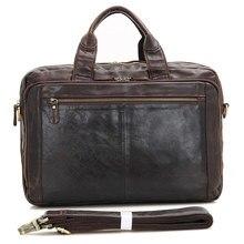 Vintage 100% Genuine Leather Bag Men Messenger Bags Real Leather Briefcase Business 14″ Travel Bags Portfolio Handbags #MD-J7230