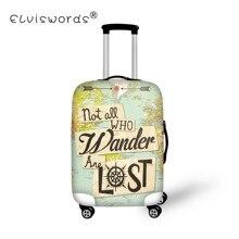 ELVISWORDS Ретро эластичные дорожные аксессуары для 18-30 дюймов карта с буквенным принтом чемодан багаж защитный чехол багажные чехлы