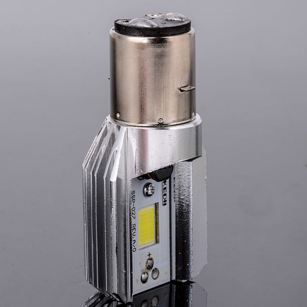 H6 BA20D DC 6V-80V 8W 6500K COB LED Motorcycle Hi/Lo Beam Headlight Bulb White Lighthouse Moto Motocicleta Accessories