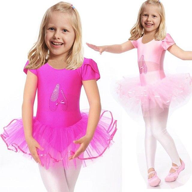 2016 Милые Девушки Балета Dress Для Детей Девушки Танцуют Одежда Детей Балетные Костюмы Для Девушки Танец Купальник Девушка Танцевальная Одежда