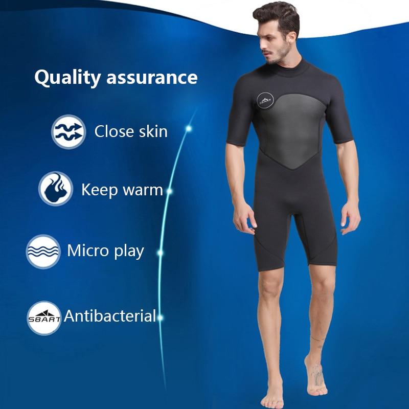 2 mm neoprene suit short sleeve men warm winter swimming diving triathlon suit surfing suit snorkel