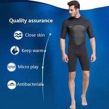 8426730778 2mm néoprène costume à manches courtes hommes chaud hiver natation plongée  triathlon costume de surf tuba