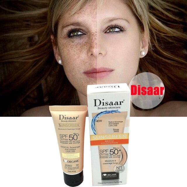 Disaar Protetor Solar Creme de Clareamento Protetor Solar Creme Protetor Da Pele Do Corpo Facial Anti-Aging Oil-controle Hidratante SPF 50 Rosto pele