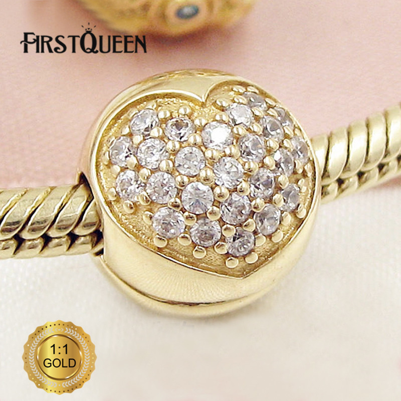все цены на FirstQueen 14k Yellow Solid Gold Love of my Life Charm Fit Original Brand Bracelet Authentic Luxury Jewelry For Woman