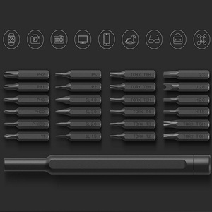 Image 4 - Orijinal Xiaomi Mijia günlük kullanımlı tornavida seti 24 hassas manyetik bit AL kutu tornavida xiaomi akıllı ev seti
