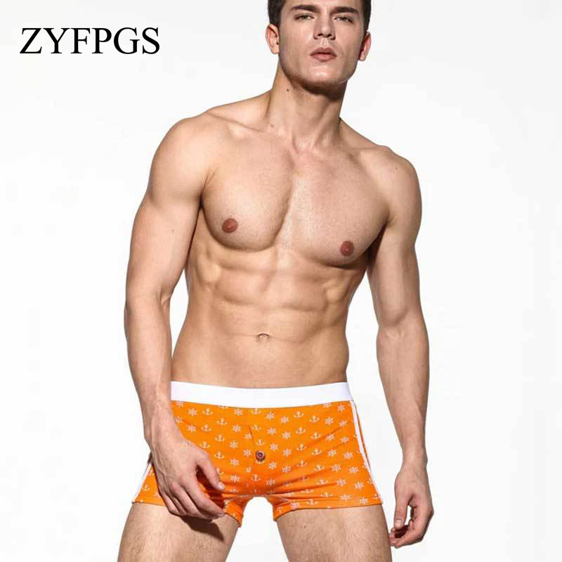 ZYFPGS Arrow Mens Shorts Loose Knitwear Shorts Mens Elastic Waistcompression Sea Short Man Quick Drying Solid printed L0628