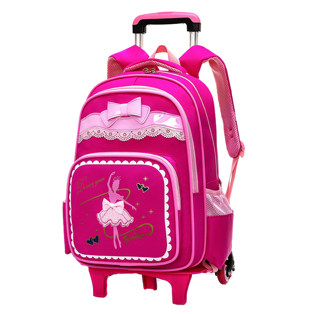 Brand Kids Travel Trolley Backpack On wheels Girl s Trolley School bags Children s Travel luggage