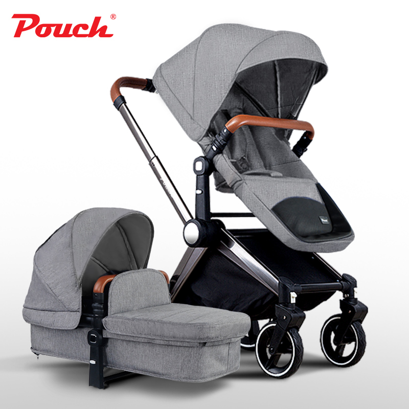 Pouch Light Luxury Stroller Wheels High Landscape Folding Baby Sitting And Lying Children Cart Bb Car In Winter And Summer folding baby stroller lightweight baby prams for newborns high landscape portable baby carriage sitting lying 2 in 1