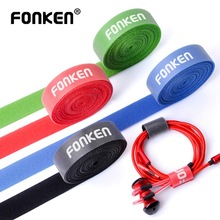 FONKEN Cable Organizer USB Cable Winder Mouse Ties Power Wire AUX HDMI Cord Free Clip Management Phone Winding Velcro Cables