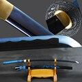 Brandon мечи японский самурайский меч катана меч High крючок из углеродистой стали синий лезвие готовый для битвы меч ножны с драконом эспадас Но...