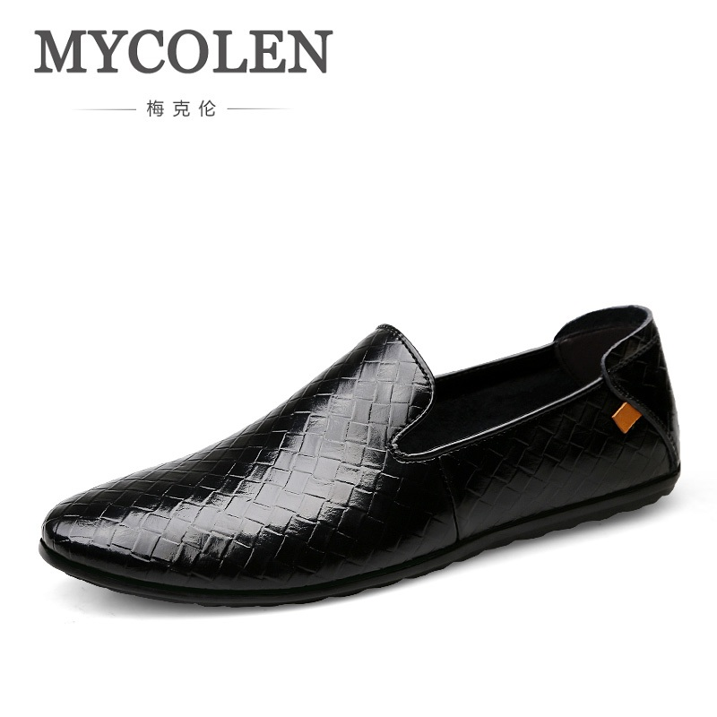 MYCOLEN The New Listing High Quality Genuine Leather Men Loafers Fashion Slip-On Driving Shoes 2018 Men Causal Flats Shoes men loafers 2016 new arrival handmade genuine leather sewing men flats slip on high quality autumn driving shoes for men