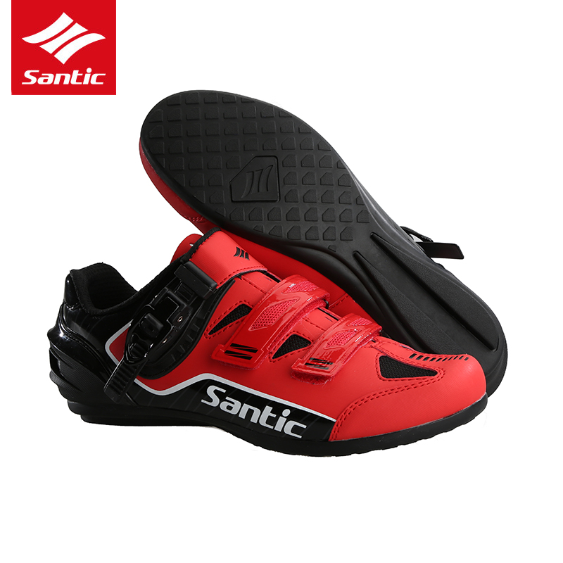 Santic 3 Colors Cycling Shoes Men Pro Team Mountain Road Bike Shoes Rubber Breathable Bicycle Unlocked Shoes Zapatillas Ciclismo santic men pro cycling shoes road bicycle shoes breathable