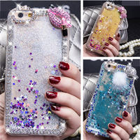 Case For IPhone 5 5S 6 6S Plus Luxury Liquid Glitter Diamond Sand Capa Quicksand Star