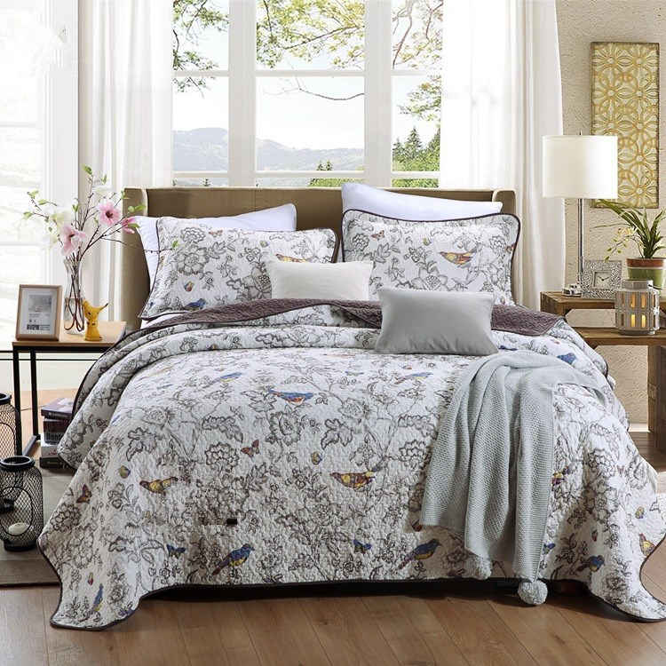 Cotton 3Pcs Bedding sets Queen Double size Bedspread Pillowcases set Quilted Bed Cover Sheets Blanket Set