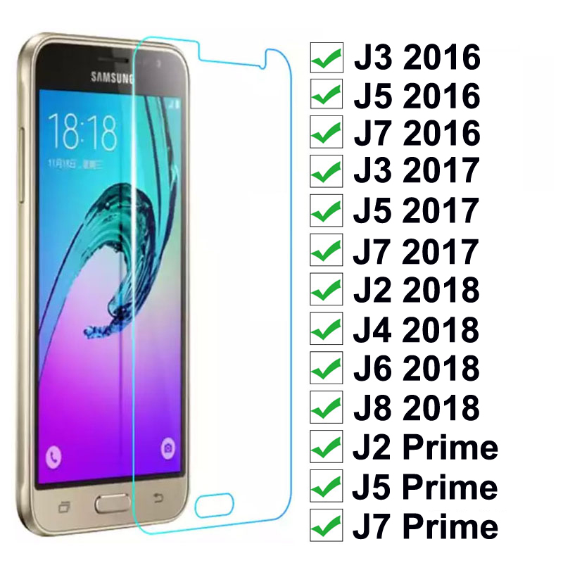 Tempered-Glass Screen-Protector Protective-Film J6 J4 Samsung Galaxy J7 Prime J2