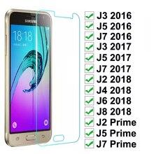 Закаленное стекло для samsung Galaxy J3 J5 J7 J2 J5 J7 Prime, Защитная пленка для экрана для samsung J2 J4 J6 J8