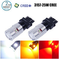 2x Bosmaa led T25 3157 Chips T25 3157 LED Blinker Schwanz Bremsen-licht leuchtmittel Weiß Rot Gelb