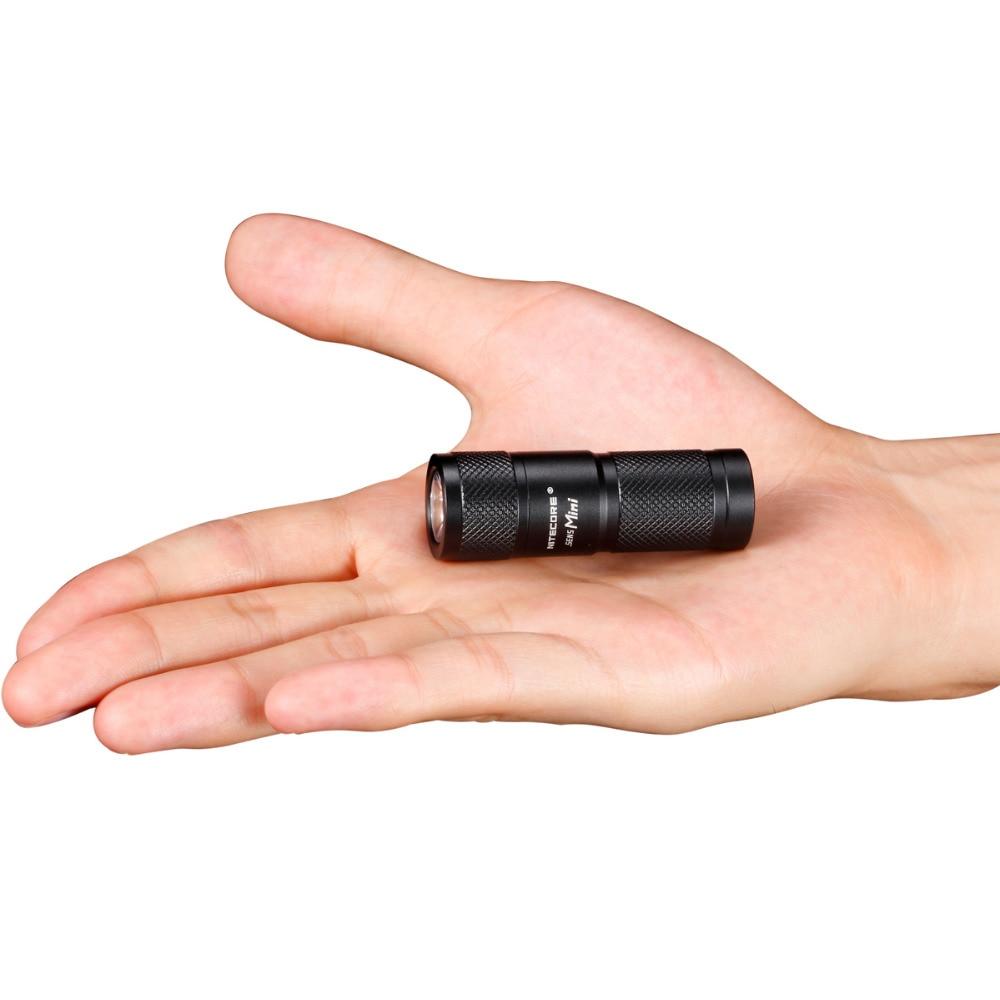 Nitecore Sens Mini ADT mini Flashlight CREE XP-G R5 LED 3 Mode Flashlight 170 lumen Mini Torch Nitecore Not Battery ultrafire mini t60 3 mode 910 lumen white led flashlight with strap black 1 x 16340
