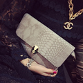 2017 Tassel Fashion Leather Women Evening Bag Luxury Wedding Clutch Crocodile Designer Envelope Woman handbag Chain Shoulder Bag