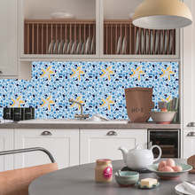 Mediterranean style mosaic brick sticker living room bedroom wallpaper wall kitchen oilproof bathroom waterproof