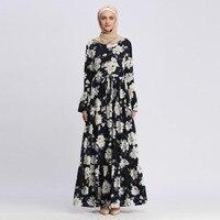 Abayas For Women Ramadan Islamic Clothing Long Sleeve Floral Maxi Muslim Dress Bangladesh Kaftan Robe Dubai Turkey Hijab Dresses