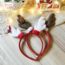Raindo 2017 New Chirstmas Kids Hairbands Cute Deer Antlers Hair Hoops Bands For Girls Xmas Headbands Year Gift Headwear