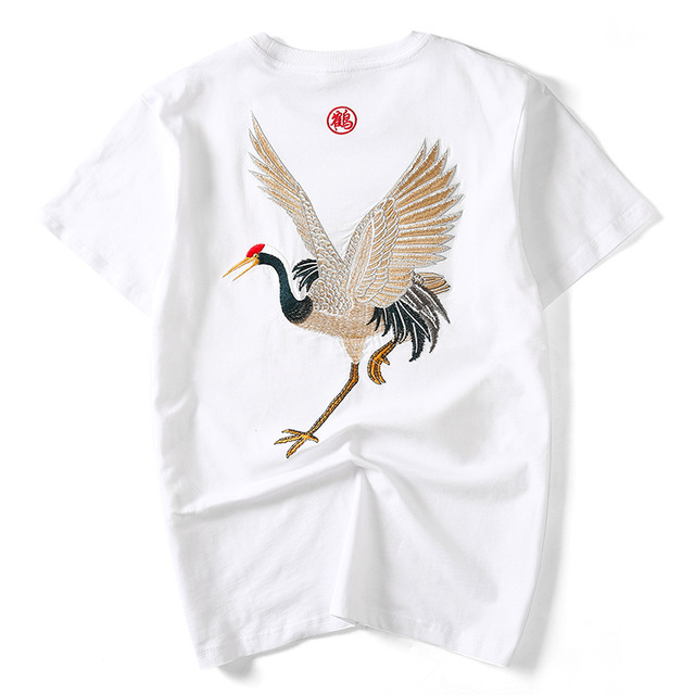 2019 Summe new Chinese trend short sleeve t shirt men summer white t-shirt mens plus size M-5XL tshirt male tops chemise camisa
