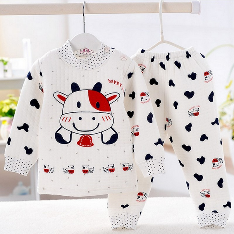 New Baby Boys Girls Clothes Set 100% Cotton Cartoon Newborn Sets Long Sleeve Children Clothing Casual Cute Infants Suit 6-18M
