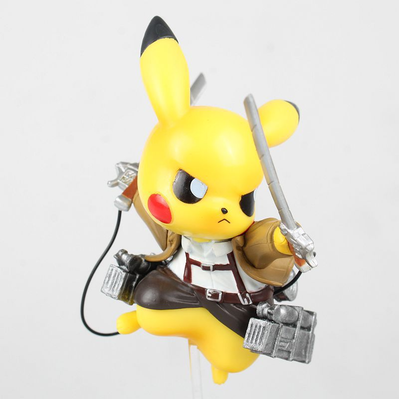 15cm Pikachu Cosplay Attack on Titan Cartoon Anime Pocket Action Figure PVC toys Collection figures for friends gifts