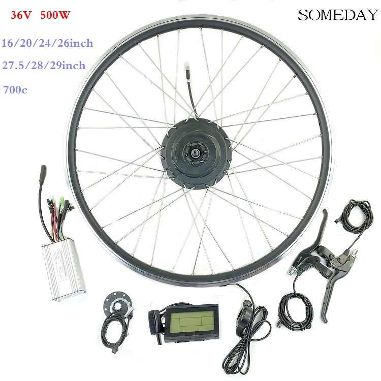 E-bike conversion kit 36V 500W front hub motor with LCD3 display