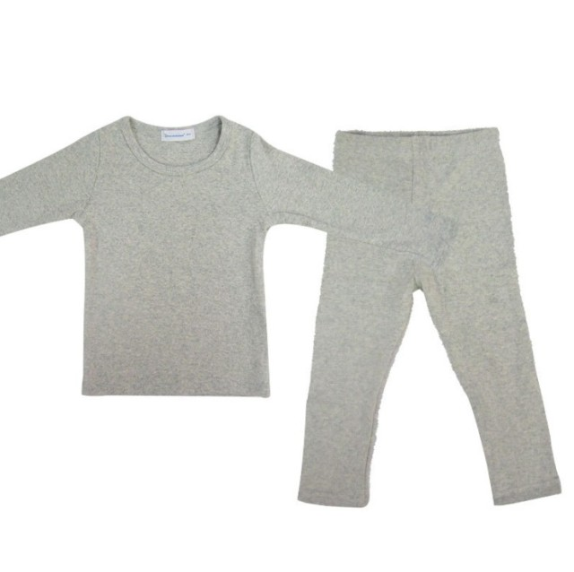0088c6269 100% Cotton Solid Long Sleeve O neck Kids Thermal Underwear Long ...
