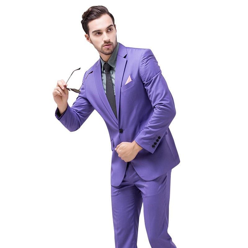 Hot Sale Cheap Blue Men Suit Shiny Wedding Groom Suits