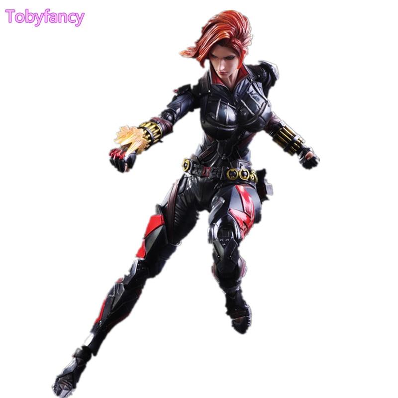 Captain America Black Widow Play Arts Kai Anime Toy Action Figure Movie Play Arts Kai Natasha Romanoff 260mm Captain America 33 element 331433c 33 element