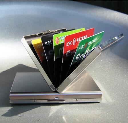 10 pièces RFID blocage portefeuille ID carte protecteur hommes femmes sécurité portefeuilles Slim Designer poche manches boîtier aluminium métal