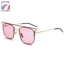 Cuadrado de la manera de la vendimia gafas de sol mujeres shades espejo retro gafas de sol para los hombres diseño marca famale sunglass gafas de sol mujer