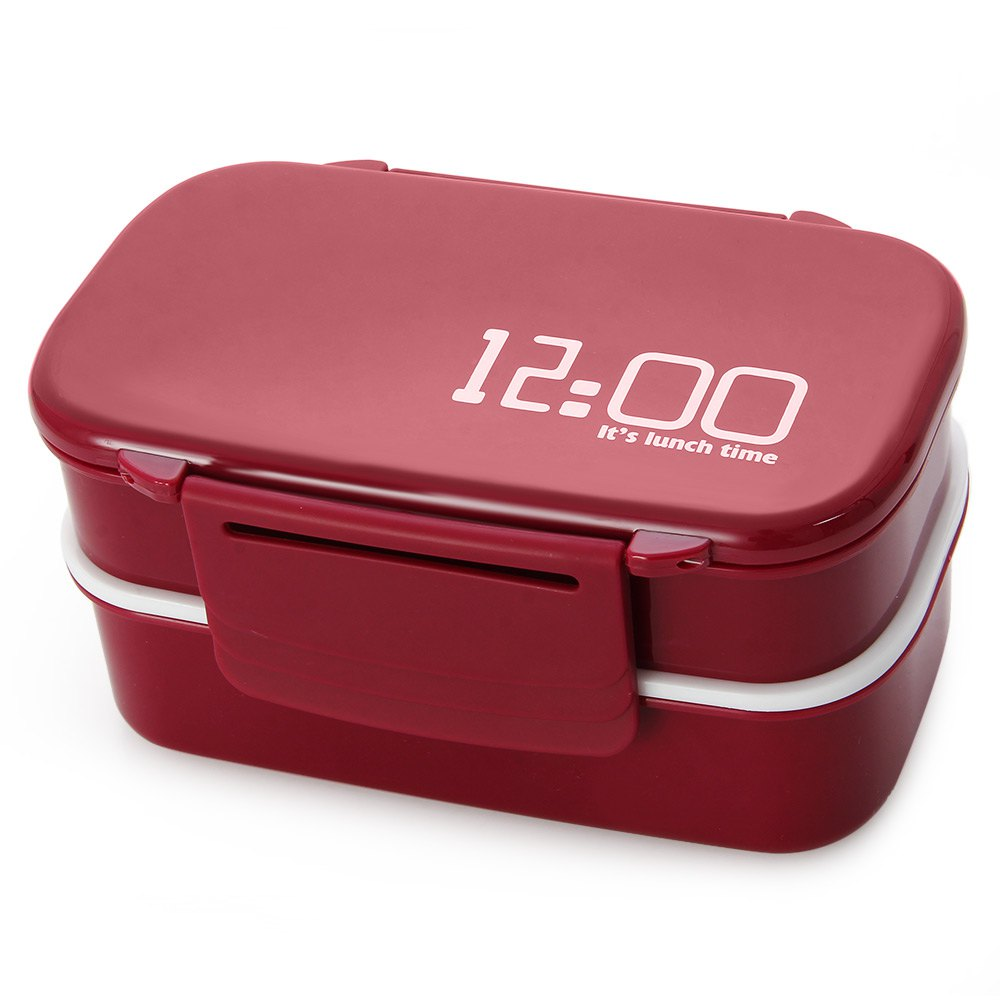 e6a9ab96e787 Double Tier 12:00 It's Lunch Time Japan Style Bento Lunch Box For ...