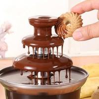 A New Mini Chocolate Fountain Creative Design Chocolate Melt With Heating Fondue Machine Christmas Chocolate Waterfall Machine