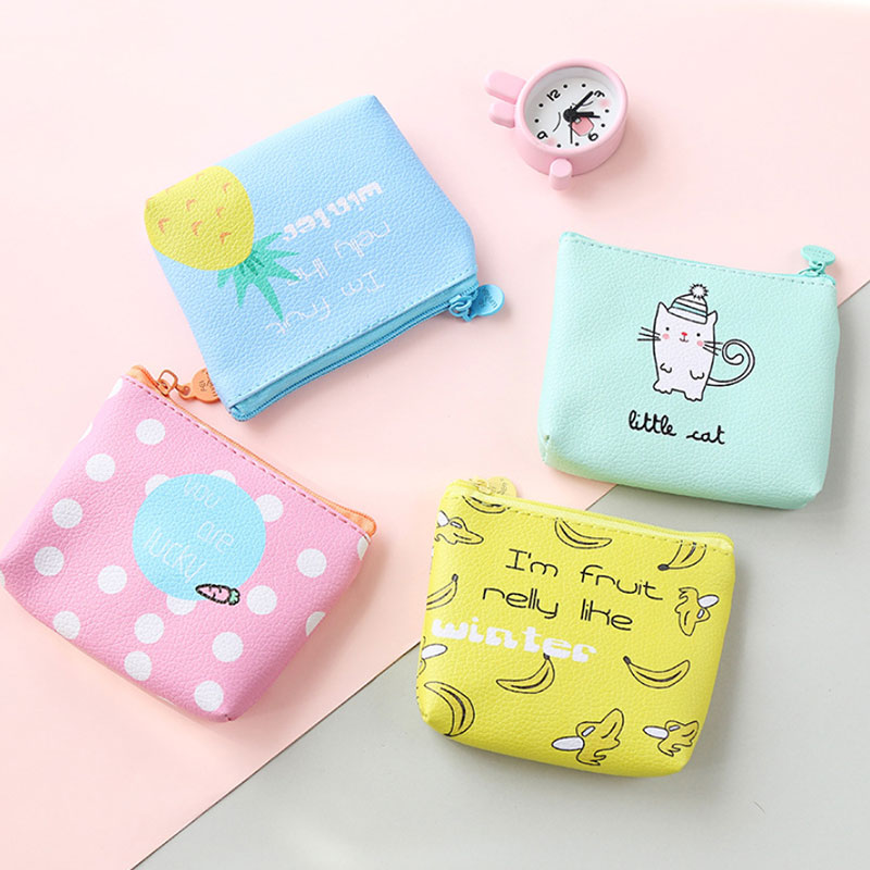 1 pcs Rose Diary cute cat fruit pu leathe bags zero wallet child girl boy purse, lady women coin wallets Pouch Case rose diary new fresh pool party cute silicone zipper bags zero wallet child girl boy purse lady women coin wallets pouch case