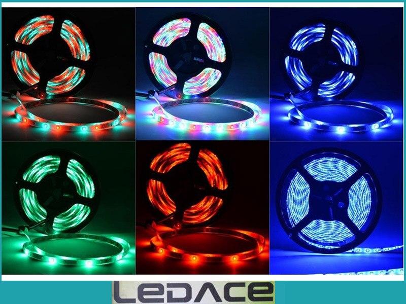 Impermeable 5M SMD 3528 RGB Kit de luz de tira flexible LED 300LEDs - Iluminación LED - foto 5
