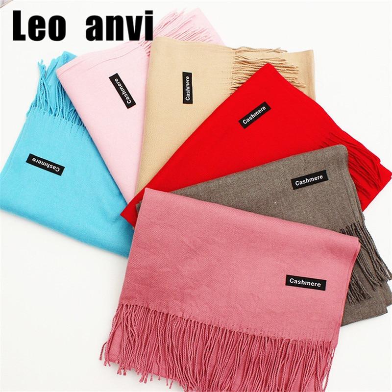 2018 luxury brand Unisex Wool Cashmere Scarf colorfur winters