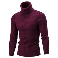 Laamei 2019 новинка осень зима мужские свитера Мужская водолазка сплошной цвет повседневные мужские свитера Slim Fit бренд Вязание пуловеры