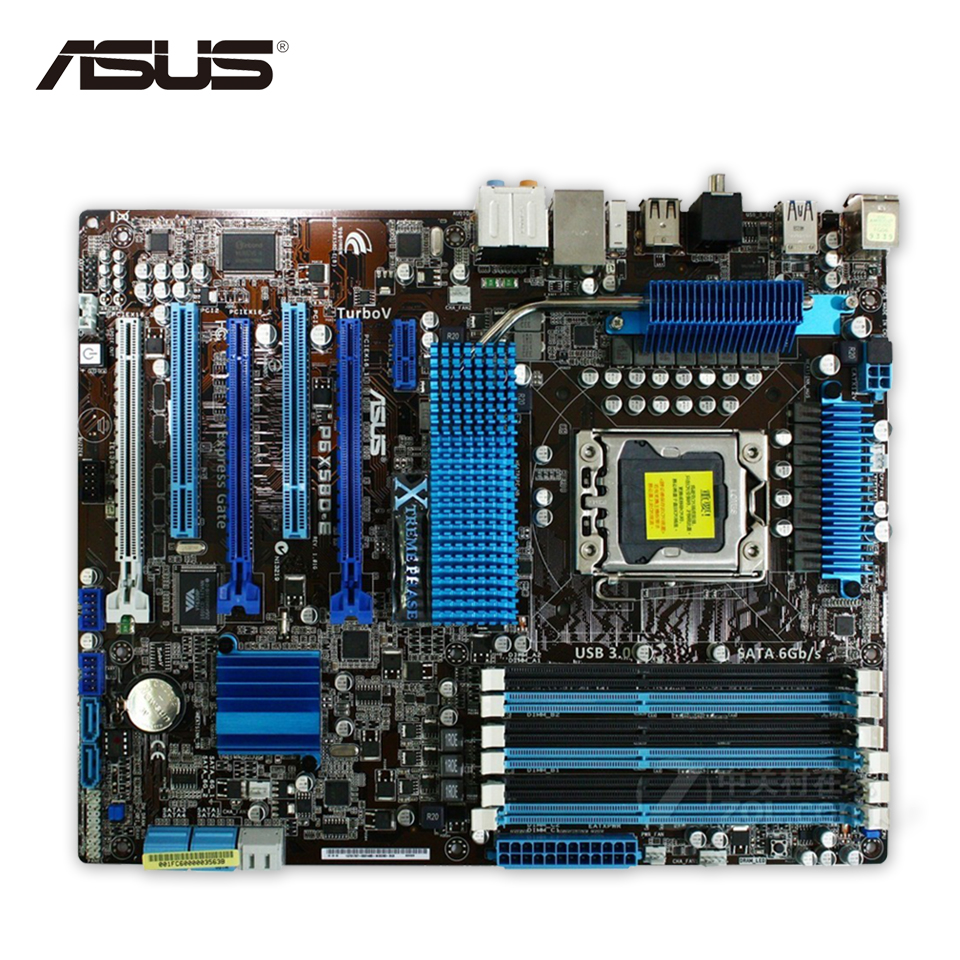 Original Used Asus P6X58D-E Desktop Motherboard X58 Socket LGA 1366 i7 DDR3 24G SATA3 USB3.0 ATX 100% Fully Test motherboard lga 1366 cpu bga soldering socket with tin balls