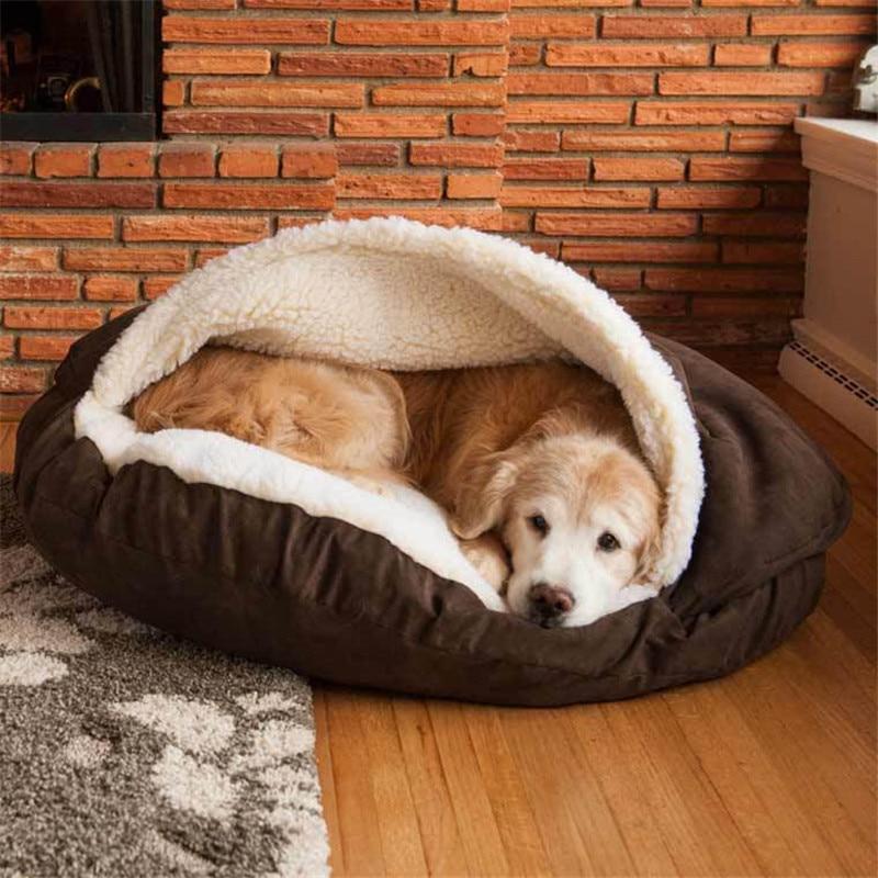 Grotte de chien Lit Pet Maison Tapis Doux Chenil Chiens Maison Grotte chien nid Lavable Nid Chien de La Maison Chaud Polaire pet Produit Chaud Nid